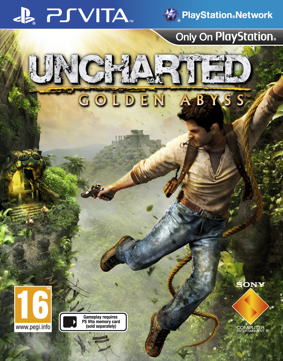 Uncharted Golden Abyss PS Vita Packshot