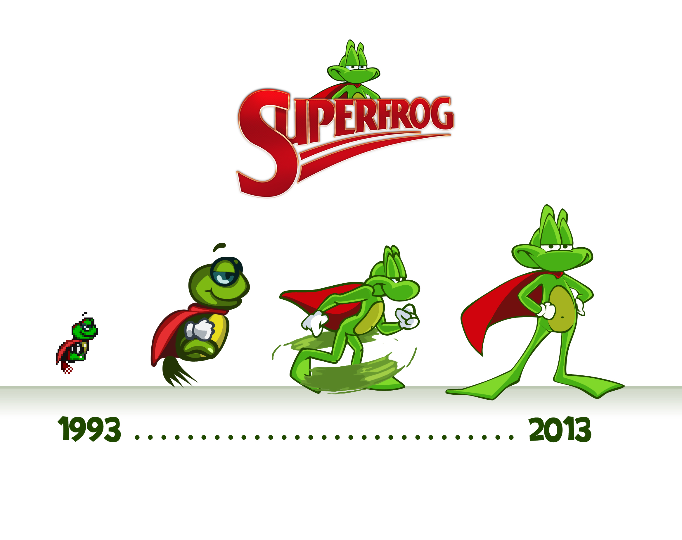 Superfrog Chararcter Progression