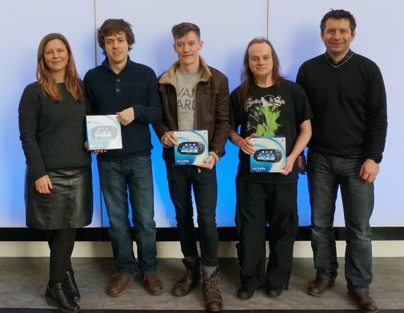 Abertay Students PS Vita Prize Winners