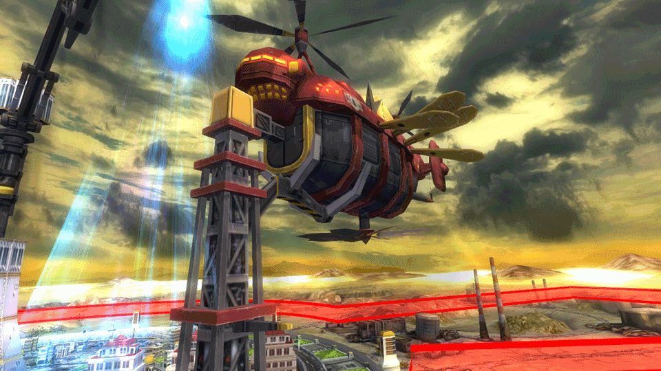 Your new citizens arrive in this blimp-looking device. Your job is to make it fair better than the Hindenburg.