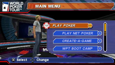 World Poker Tour PSP